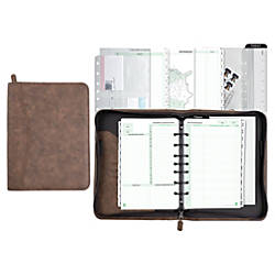 Day Timer Distressed Simulated Leather Organizer