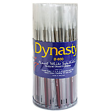 Dynasty White Paint Brushes B 800
