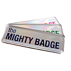 The Mighty Badge Reusable Name Badge