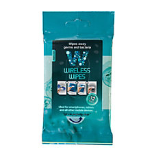 Wireless Wipes Mobile Device Screen Cleaning