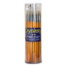 Dynasty Interlocked Paint Brushes Round Bristle