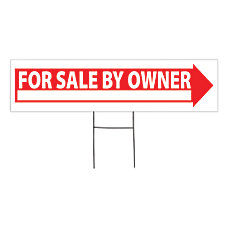 Outdoor House Sign For Sale By