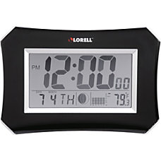 Lorell LCD WallAlarm Clock Digital