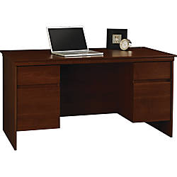 Ameriwood Westmont Collection Executive Desk Resort Cherry