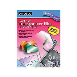 Apollo Inkjet Printer Transparency Film For Hewlett