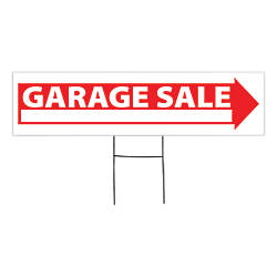 Outdoor House Sign Garage Sale 6 x 24 by fice Depot