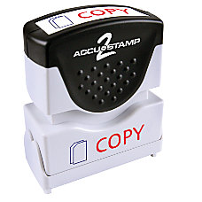 ACCU STAMP Two Color Self Inking