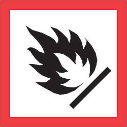 Tape Logic Pictogram Labels Flame Square