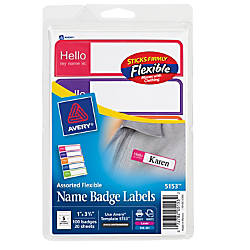 Avery Name Badge Labels 3 12