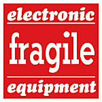 Preprinted Shipping Labels Electronic Fragile Equipment