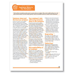 ComplyRight Fact Sheets Substance Abuse 8