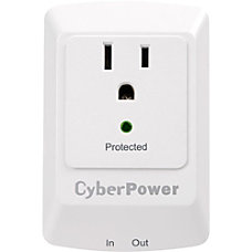 CyberPower CSP100TW Professional 1 Outlet Surge