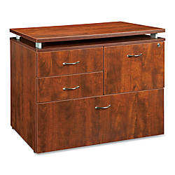 Lorell Ascent File Laminate Cabinet Cherry