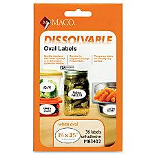 Maco Maco Dissolvable Labels 36 Labels