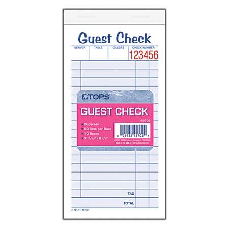 Doc Guest Check Template parking receipt template parking – Guest Check Template