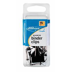 Swingline Scratch Resistant Binder Clips Assorted