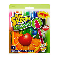 Mr Sketch Scented Twist Crayons Assorted