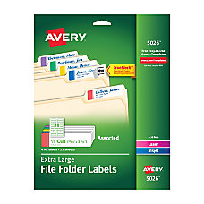 Avery TrueBlock Extra Large Permanent InkjetLaser