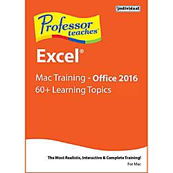 Professor Teaches Excel 2016 Mac Download