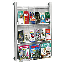 Safco Luxe Magazine Rack 41 H