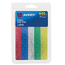 Avery Foil Stars Assorted Colors 12