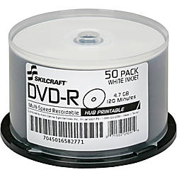 SKILCRAFT DVD Recordable Media DVD R