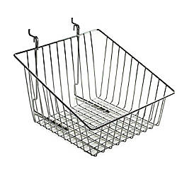 Azar Displays Chrome Wire Baskets Sloped