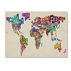 Trademark Global Typography World Map II