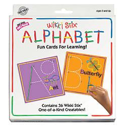 Wikki Stix Alphabet Card Set