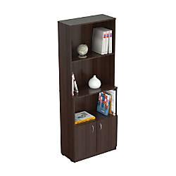 Inval Bookcase With Storage Area Espresso