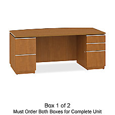 BBF Milano2 Double Pedestal Bow Desk