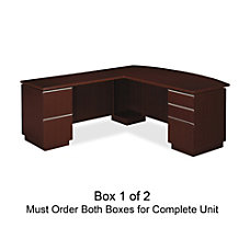BBF Milano2 Left L Desk 30