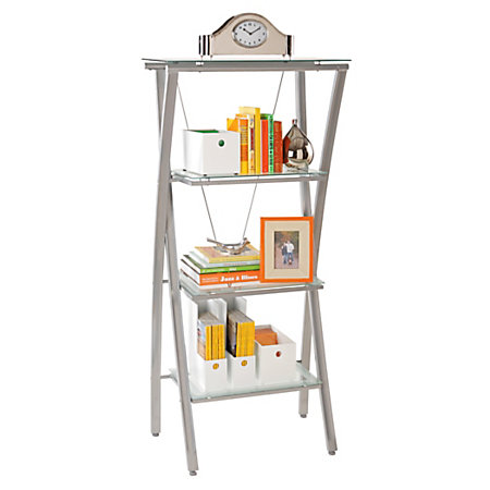 Reale Zentra Bookcase Silver Clear