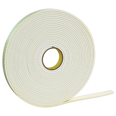 3m double sided foam tape x 72 yd off white case of 12 by office depot officemax. Black Bedroom Furniture Sets. Home Design Ideas