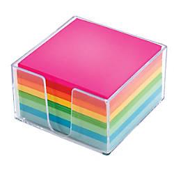 Office Depot Brand Plexi Note Cube