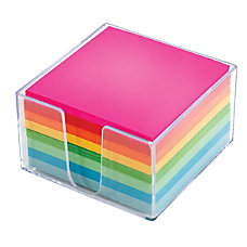 Office Depot Brand Plexi Note Cube