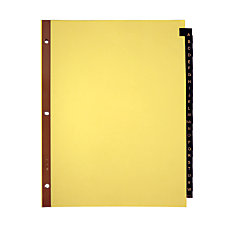 Office Depot Brand Preprinted Tab Dividers