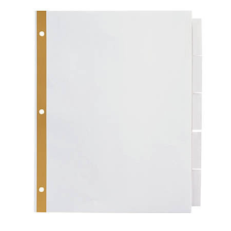 office depot divider templates office depot brand insertable dividers with big tabs white