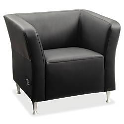 Lorell Fuze Square Leather Modular Lounge