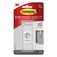 Command Canvas Picture Hanger Large White