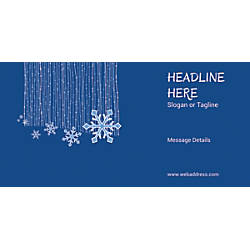 Custom Horizontal Banner Snow Flakes