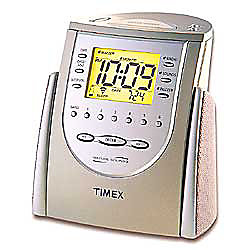 timex nature sounds triple alarm clock radio titanium by office depot officemax. Black Bedroom Furniture Sets. Home Design Ideas