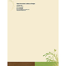 Full Color Flat Print Letterhead 8