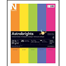 Neenah Astrobrights Bright Color Catalog Envelopes