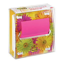"Post-it® Fresh Flower Pop-up Notes And Dispenser, 3"" x 3"""