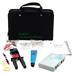 professional rj45 network installer tool kit with carrying case network. Black Bedroom Furniture Sets. Home Design Ideas