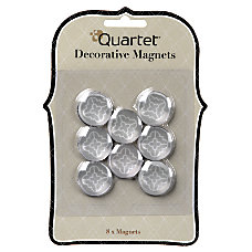 Quartet Bubble Magnets GrayWhite Pack Of