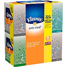 Kleenex Antiviral 3 Ply Facial Tissue