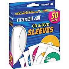 Maxell CD 400 CDDVD Sleeves 50