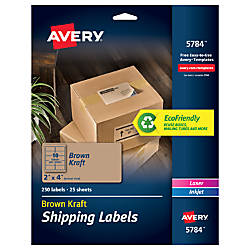 Avery Shipping Labels 2 x 4